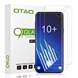 Galaxy S10 Plus Screen Protector (3-Pack)(Not Glass), OTAO Full Coverage Screen Protector Case Friendly HD Clear Anti-Bubble Film for Samsung S10+