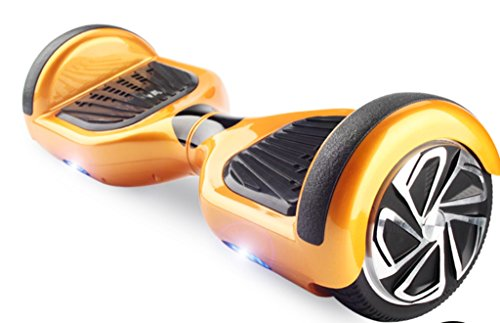 Hoverboard Two-Wheel Self Balancing Electric Scooter UL 2272 Certified, LED Light Free Carrying Bag by WorryFree Gadgets