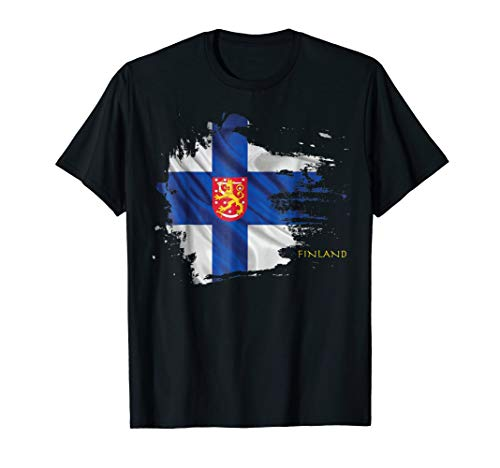 Finland Flag and Coat of Arms Shirt (Coat Finnish Of Arms)