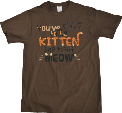 YOU'VE CAT TO BE KITTEN ME RIGHT MEOW Adult Unisex T-shirt / Cheesy Cat Lover T