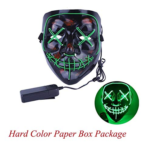 TANGGOOO 2019 Halloween Mask Up Party Masks The Purge Election Year Great Funny Masks Festival Cosplay Costume Glow in Dark Must-Have Kids Girl Gifts Childrens Favourites Superhero Cupcake Toppers