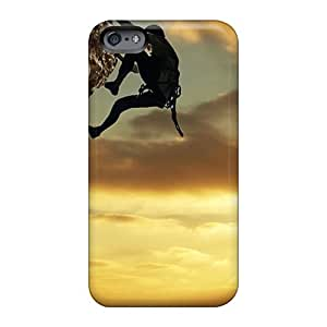 Shock Absorption Hard Cell-phone Cases For Apple Iphone 6s Plus (GUz1789Fctx) Custom Colorful Rock Climber Pictures