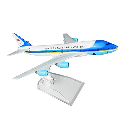 (Lose Fun Park US Air Force One Boeing 747 16cm Metal Airplane Models Child Birthday Gift Plane Models Home)