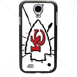 NFL American football Kansas City Chiefs Fans Samsung Galaxy S4 SIV I9500 TPU Soft Black or White case (Black)