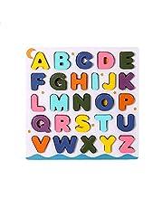 English Alphabet Letters Shaped Puzzle Toy, 25 Pieces