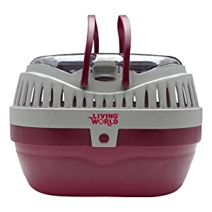 Living World Pet Carrier, Red/Grey 23