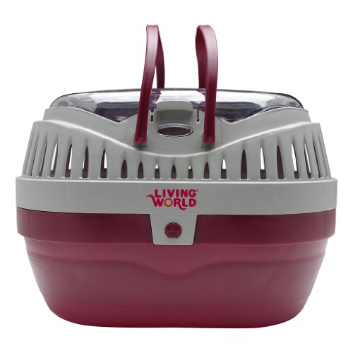 Living World Pet Carrier, Red/Grey ()