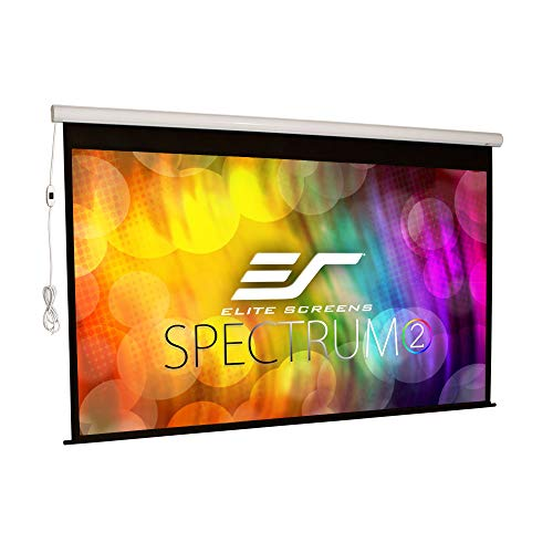 Elite Screens Spectrum2, 100-inch 16:9, 12-inch Drop, Electric Motorized Drop Down Projection Projector Screen, SPM100H-E12