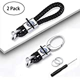 Fashion Car Key Chain Fit for VW Tiguan Polo Lavida Jetta Golf CC Series Braided Leather VW Volkswagen Car Keychains & Car Keyrings for Couples Car Logo Key Chains Man Key Rings Woman Keyrings