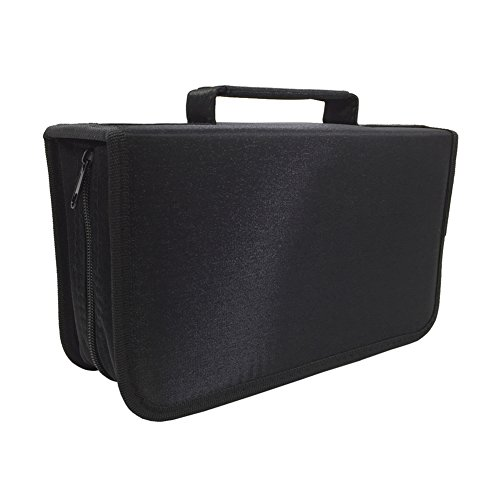 Nizzco 128 Disc CD/DVD Portable Wallet, CD Case Bag Album Box,Storage Organizer Holder,Protective DVD Storage,Black Buy Cd Canada