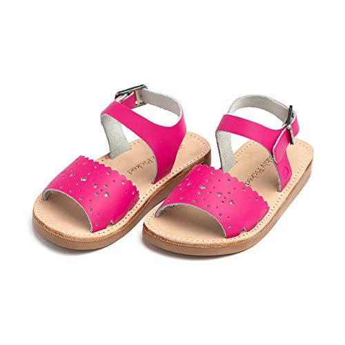 Freshly Picked - Laguna Toddler Girl Leather Sandals - Size 4 Fuchsia Pink