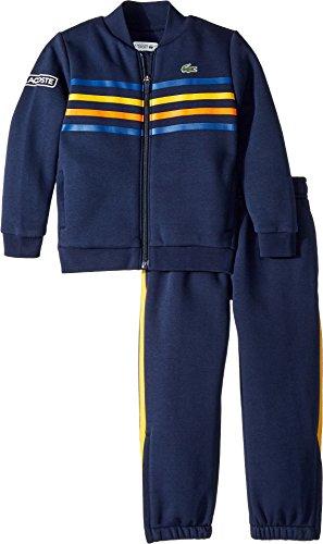 - Lacoste Kids Mens Fleece Player Collection Tracksuit (Little Kids/Big Kids) Navy Blue/Marino/Buttercup 12 (Big Kids) One Size