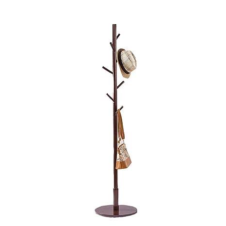 Amazon.com: XXAN Perchero vertical de madera maciza, gancho ...