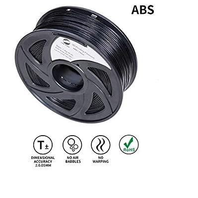 LEE FUNG 1.75mm ABS 3D Printing Filament Dimensional Accuracy +/- 0.05 mm 2.2 LB Spool DIY Material Tools (Black)
