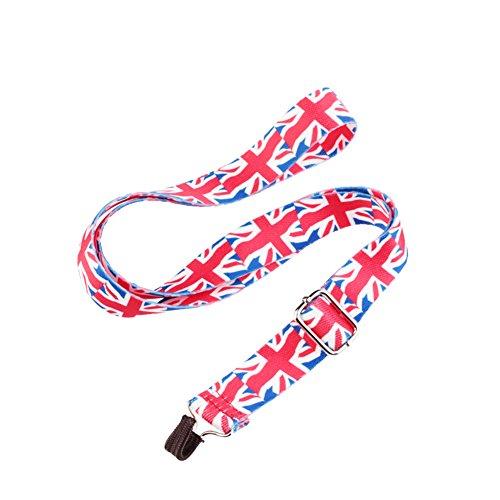 HOT SEAL Adjustable Nylon Metal Hook Ukulele Strap Strong Neck Straps (British Flag)
