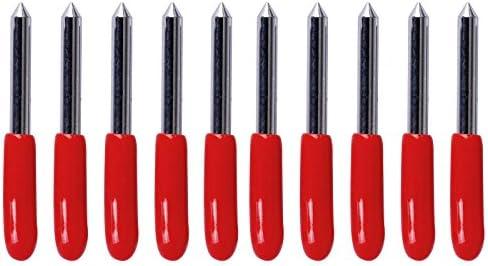10 Set 45 grados Hoja Roland Cricut corte Plotter Plóter vinilo cúter Cuchillas cúter de cuchillas para Roland plotter Rojo: Amazon.es: Bricolaje y herramientas