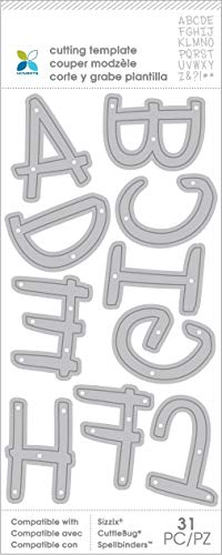Momenta Die XL Alpha Upper Case In Handwritten - 26 Piece Kit - Full Alphabet of Versatile Steel Die Cut Templates - Add Detail to Scrapbooks, Greeting Cards, Mailboxes, Etc.