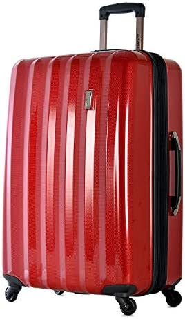 Olympia Titan 29 Expandable Large-Size Hardcase Spinner,Rolling Suitcase in Red