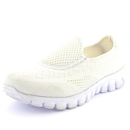 Femmes Get Fit Maille Go Fonctionnement Athlétique Marcher Chaussures Blanc XEKrCm