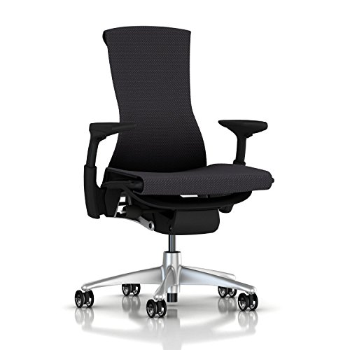 Herman Miller Embody Chair: Fully Adj Arms - Graphite Frame/Titanium Base - Translucent Casters