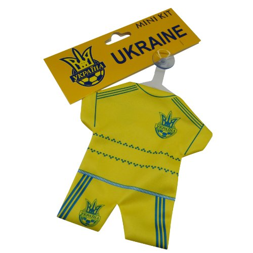 (Ukraine FIFA World Cup Mini Jersey Kit With Suction Cap For Car Window .. New)