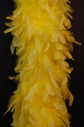 80 Gram Chandelle Feather Boa - YELLOW 2 -