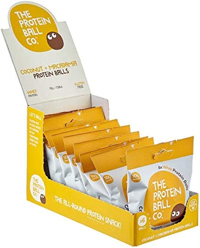 The Protein Ball Co. Coconut and Macadamia Proteinbälle, 10er Pack (10 x 45 g)