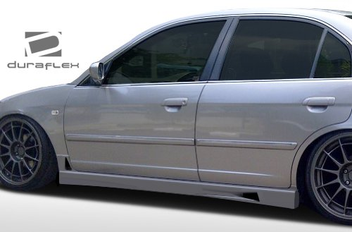 (Duraflex ED-SDE-566 R34 Side Skirts Rocker Panels - 2 Piece Body Kit - Compatible For Honda Civic 2001-2005)