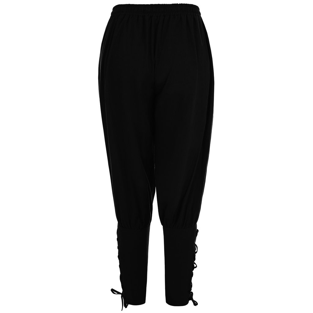 FunStation Men's Medieval Ankle Banded Viking Pants Trousers Costume (L, Black) by FunStation (Image #2)