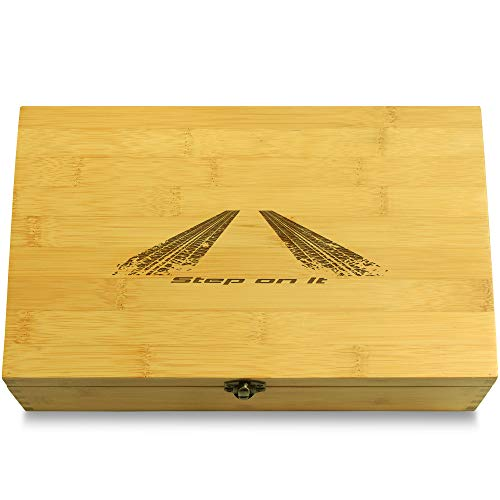 Cookbook People Step On It Peel Out Car Multikeep Box - Memento Bamboo Wood Adjustable Organizer