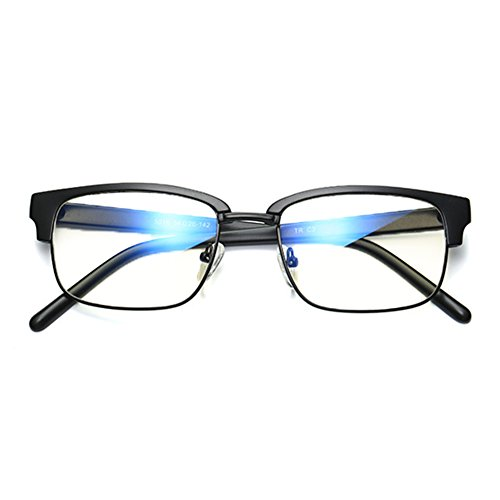 Hommes Lunettes de soleil anti-bleu - TR90 Lunettes de protection rectangulaires ultra légères Lunettes de protection - hibote sand black