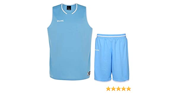 Spalding Baloncesto Combo Set Camiseta Move Camiseta + Pantalones Cortos verschied. Colores, Azul, Blanco: Amazon.es: Deportes y aire libre
