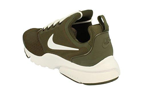 Nike Nya Mens Presto Flyga Kör Sneaker Last Kahki Vit 300