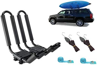 Kayak Roof Carrier >> Mrhardware A01 Kayak Roof Rack For Suv Car Top Roof Mount Carrier J Cross Bar Canoe Boat 1 Pairs