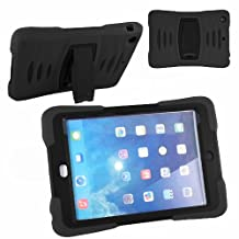 Xtra-Funky Exclusive iPad Mini 1& 2 Heavy Duty Dual Layer Silicon and Plastic Shock Absorbing Ultimate Protective Case with Built in Stand and Protective Screen layer - BLACK