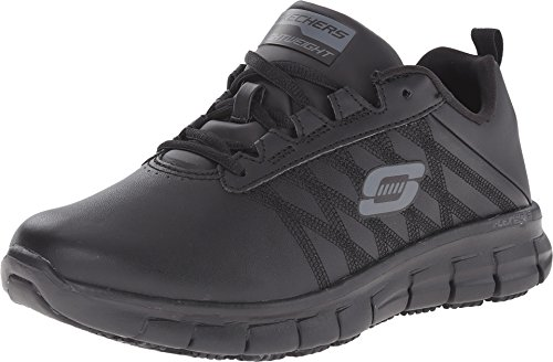 Skechers Work Women's Sure Track - Erath Black 9 D -
