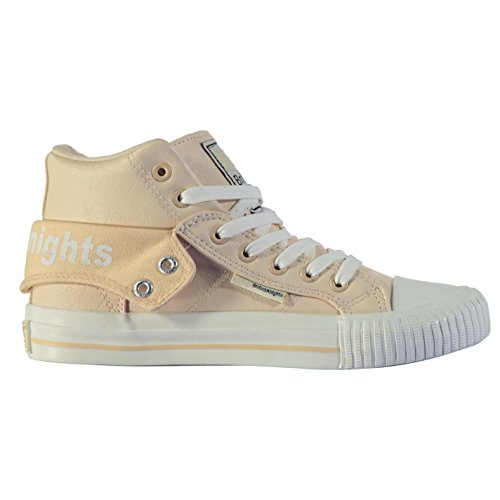 British Knights Roco PU Hi Top Baskets pour femme Rose Sneakers Chaussures Chaussures