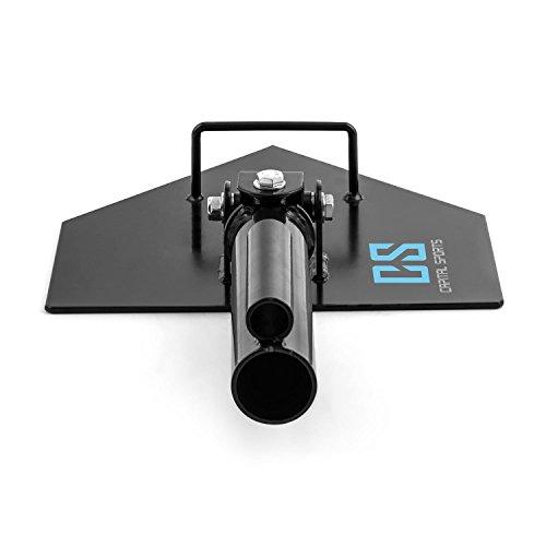 Capital Sports Landmine Extensión soporte para barra olímpica (Agarres para manguitos de 50 y 25mm, capacidad máxima de carga: 200kg, resistente corrosión y ...