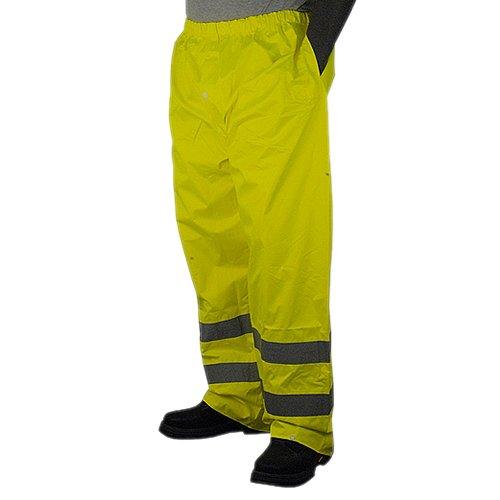 Majestic Glove 75-2351/L Rain Pants, Pu Coated, High-Vis, Class E, Large, Yellow