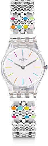 Swatch Women's Originals LK368G Silver Stainless-Steel Analog Quartz Fashion - Online Buy Swatch