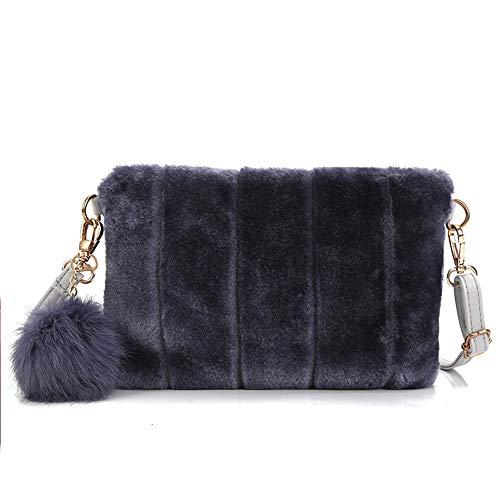 Yu Clutch Fur Bag Handbag Faux Wallet Color Li Elegant Women Candy Clutch Blue r6rPq