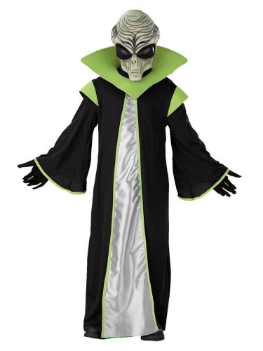 Area 51 Alien Costumes (Disguise Boys Alien Costume with Mask Extra-terrestrial)
