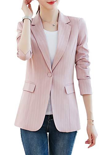 Women's Blazer Jacket Corduroy Sport Coat Smart Formal Dinner Cotton Jacket Slim Fit Two Button Notch Lapel Coat