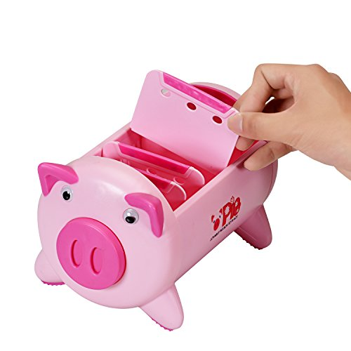 T O K G O - Creative Pigs Plastic Office Desktop Stationery Pencil Holder Makeup Pen holder Cell Phone Remote Control Storage Box Organizer with 4 Adjustable Spaces Photo #4