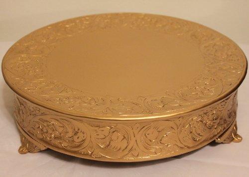 Belmont 18 Inch Matte Gold Round Wedding Cake Stand - International Hyatt Locations