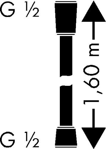 hansgrohe Isiflex Brauseschlauch 1,60m edelstahl-optik