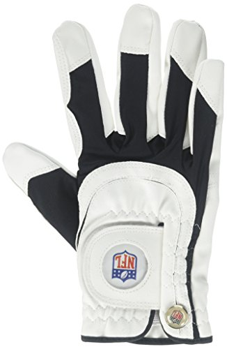 Wilson Staff NFL Fit All Men's Right Hand Golf Glove, One Size, White