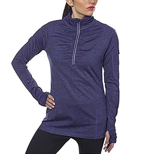 Kirkland Signature Womens Active 1/4 Zip Ruffled Pullover (XL, ()