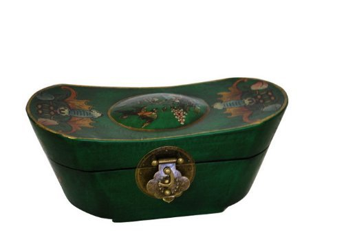 Vintage Chinese Ingot Shape Jewelry Keepsake box