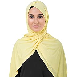 InEssence Goldfinch Yellow Viscose Jersey Scarf Women Girls Wrap Large Size Hijab